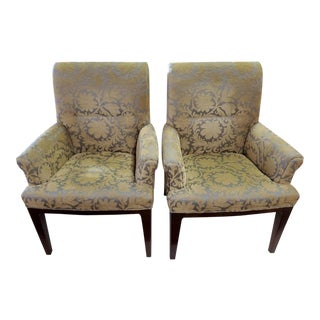 Bill Sofield Collection for Baker Cheval Armchairs - a Pair For Sale