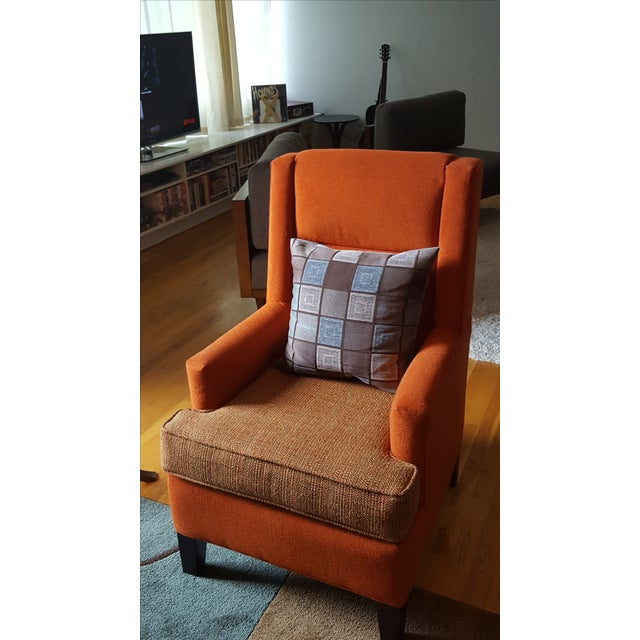 Danish Mid-Century Orange Armchair - Image 3 of 6