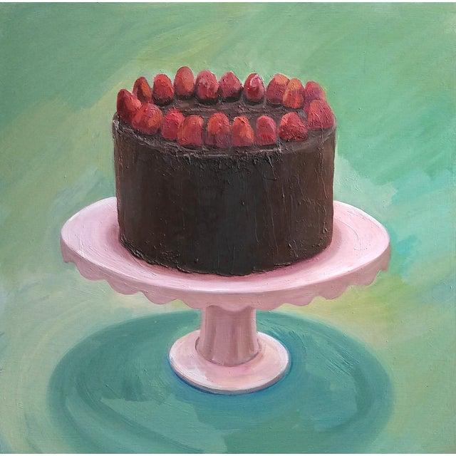 Chocolate Strawberry Cake Painting - Image 1 of 5
