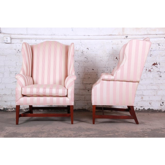 Baker Furniture Wingback Lounge Chairs, Pair For Sale - Image 9 of 13