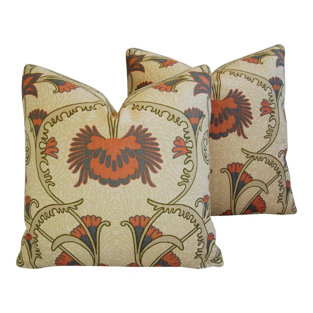 Designer Home Couture Contessa Linen Pillows - A Pair For Sale