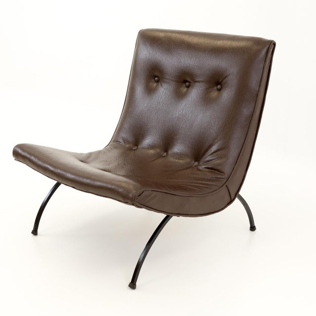 Mid Century Modern Milo Baughman Scoop Lounge Chairs- A Pair For Sale In Chicago - Image 6 of 11