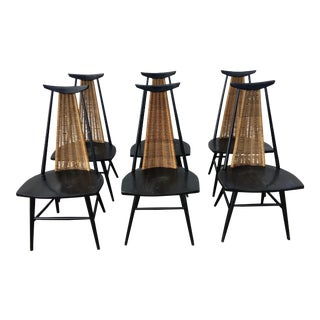 1950s Vintage Ilmari Tapiovaara Chairs- Set of 6 For Sale