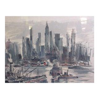 John Haymson Hudson River Skyline Print