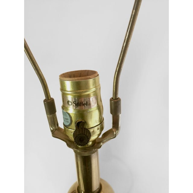 Vintage Stiffel Brass Lamps - A Pair - Image 4 of 4