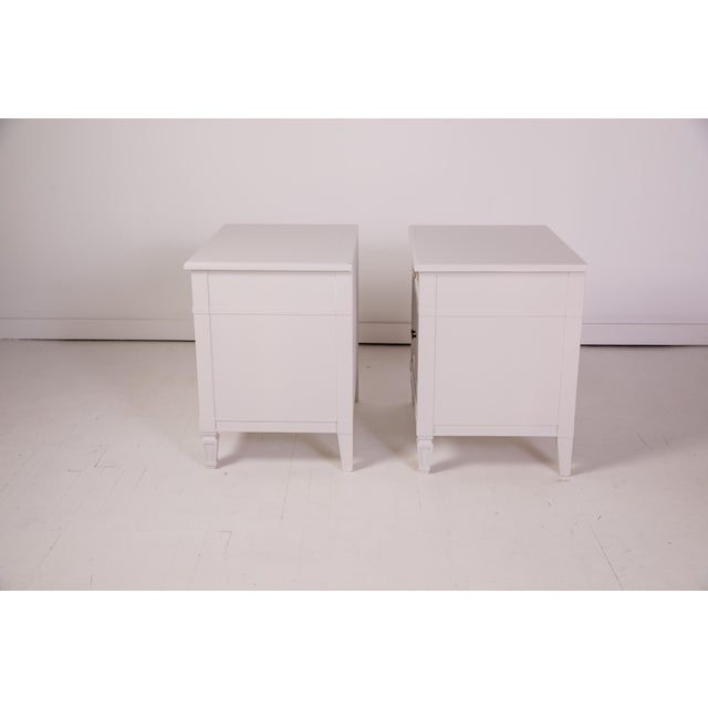 Mid-Century Modern Baker Furniture Grey Nightstands - a Pair For Sale In Greensboro - Image 6 of 12