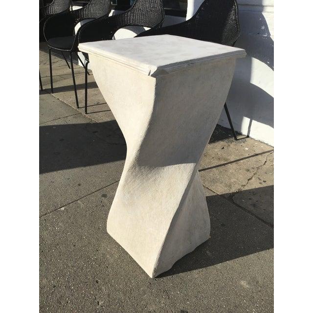 1980s 1980s Vintage Plaster Twisted Pedestal For Sale - Image 5 of 8