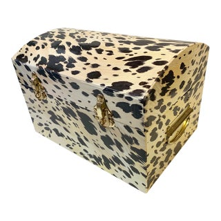 Oversized Cowhide Print Jewelry Storage Box For Sale