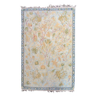 Indian Dhurrie Rug - 4′9″ × 6′3″ For Sale
