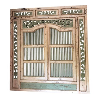 Continental Carved & Painted Wall Mirror For Sale