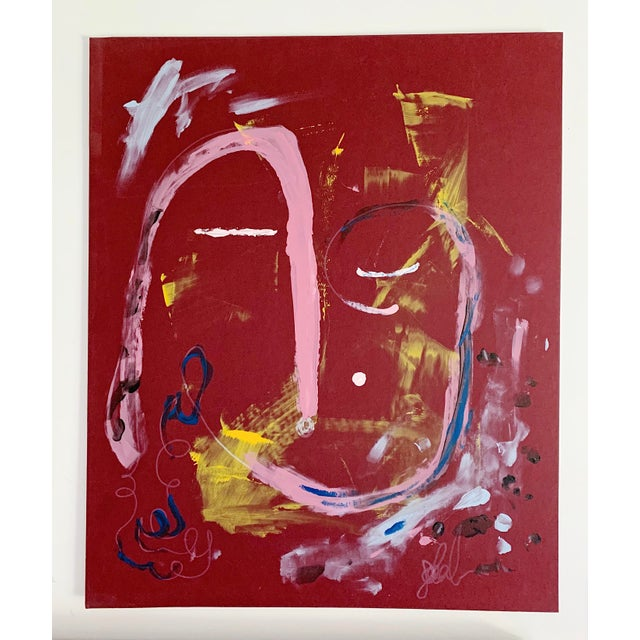 """Abstract """"Calm Dispenser"""" Contemporary Abstract Acrylic Painting For Sale - Image 3 of 5"""
