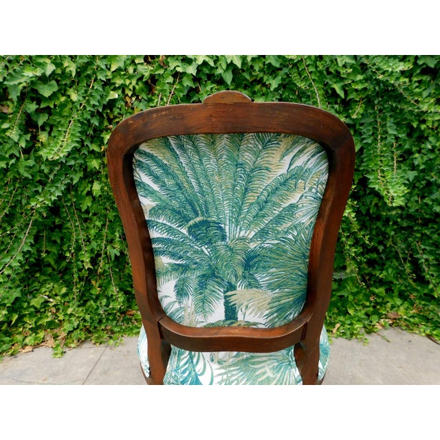1960s Italian Carved Wood Botanical Accent Chair For Sale - Image 5 of 10