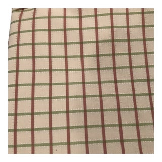 Designer Creamy White, Rose and Green Fabric - 2.5 Yards