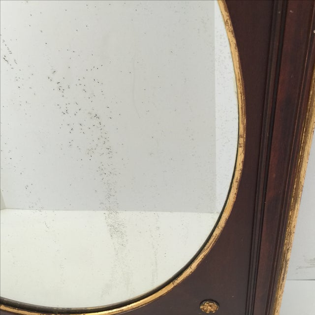 Antique Gilt Mahogany Oval Mirror - Image 4 of 4