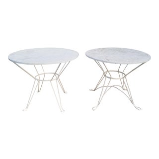 1950s Mid-Century Mdoern Maurizio Tempestini for Salterini Outdoor Dining Tables - a Pair For Sale