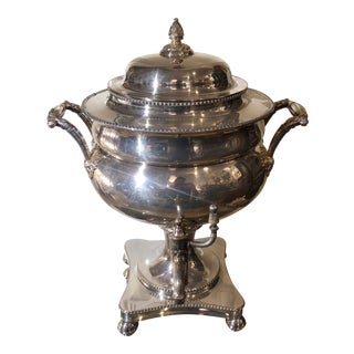 Antique Regency Period Silver Plated Samovar For Sale