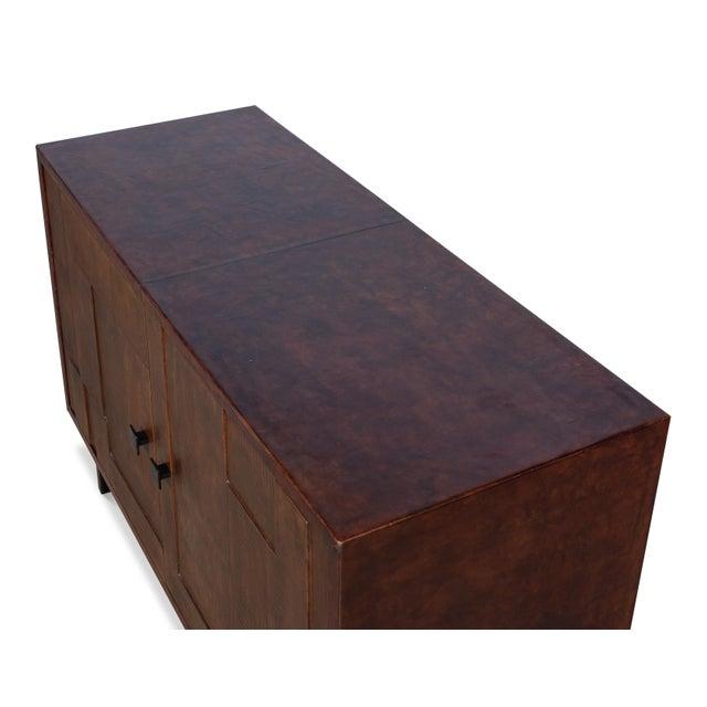 Sarreid Ltd. Sarreid Patchwork Leather Sideboard, 2 Dr For Sale - Image 4 of 7