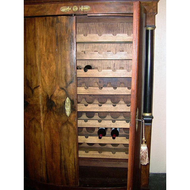 Empire Early 19th Century French Empire Armoire Wine Cabinet For Sale - Image 3 of 8