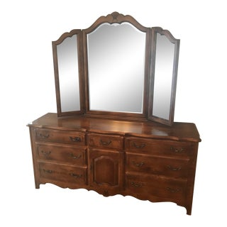 Ethan Allen Country French Triple Dresser For Sale