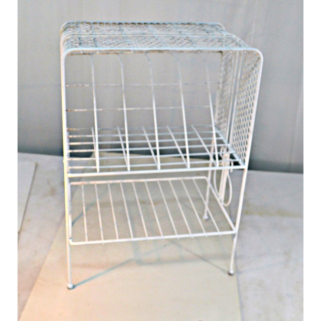 Farmhouse 1960s Vintage Metal Music or Magazine Stand For Sale - Image 3 of 9