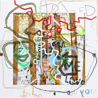 Janet Lage Trashed - I Dare You Grafitti Painting 2015 For Sale