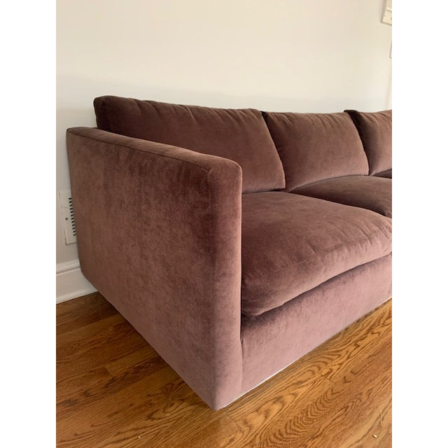 Mid-Century Milo Baughman for Thayer Coggin Tuxedo Sofa For Sale - Image 11 of 12
