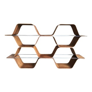"Bentwood ""Honeycomb"" Bookcase"