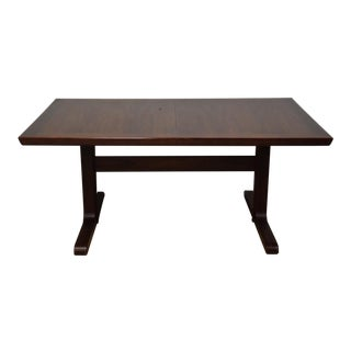 Danish Modern Rosewood Dining Table W/2 Leaves