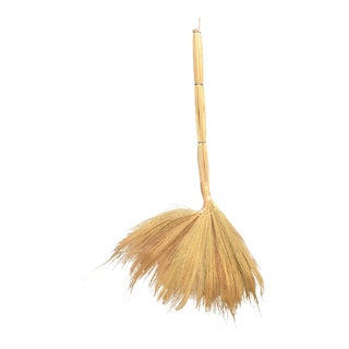 1990s Boho Chic Thai Grass Broom For Sale