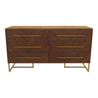 Mid Century Modern Design 6 Drawer Dresser For Sale
