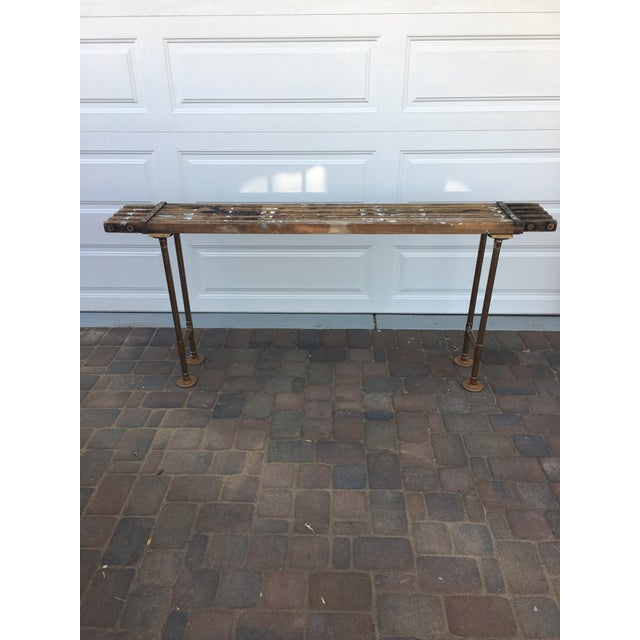 Antique Scaffolding Table For Sale - Image 11 of 11