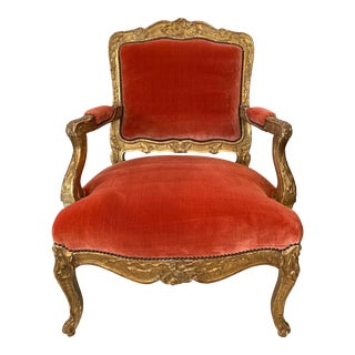 1920's Rococo Style Armchairs-a Pair For Sale
