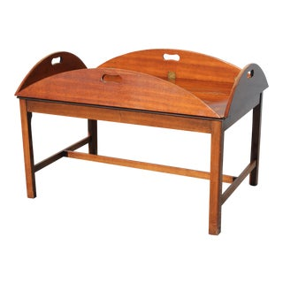 Mid-Century Walnut Tea Tray Table