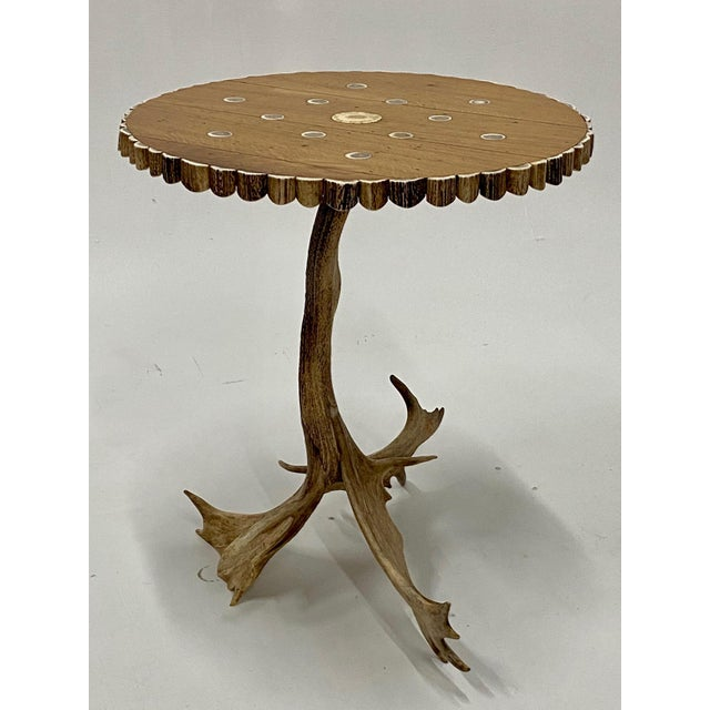 Brown Organic Modern Antler Side Table For Sale - Image 8 of 13