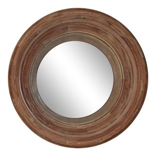Arteriors Troy Acacia Wood Convex Mirror For Sale