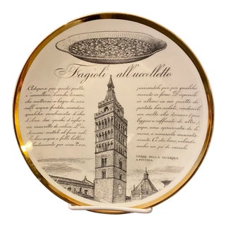 Piero Fornasetti Specialita Toscane Plate For Sale