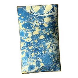 Jill Seale Hand-Marbled Decoupaged Tray