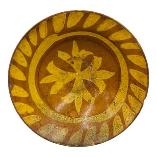 Antique Hand Crafted Terra-Cotta Bowl For Sale