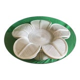 Image of Tropical 1970s Mid Century Modern Gabriella Crespi / Franco Albini Style Rattan Pencil Reed Bell Flower Coffee Table With Glass Top For Sale