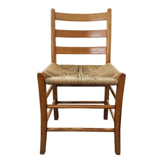 1960s Antique Rope Bottom Chair For Sale