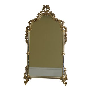 Labarge Venetian Style Gold Framed Mirror For Sale