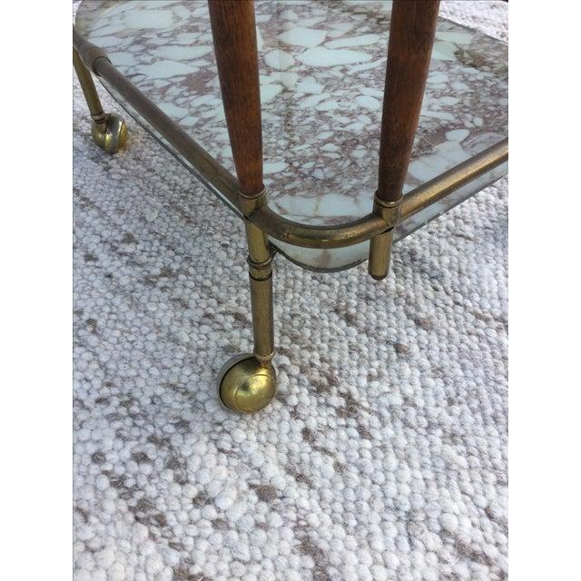 1950s Italian Brass & Walnut Bar Cart - Image 9 of 11