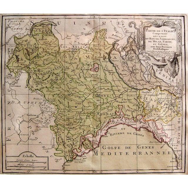Louis Brion De La Tour Map, Italy, 1766 For Sale