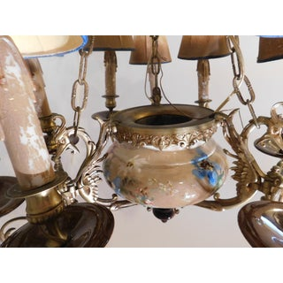 Custom Hand-Painted Porcelain & Bronze Chandelier Preview
