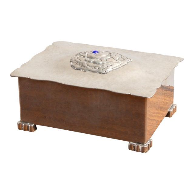 Danish Art Deco Silver Keepsake Box For Sale