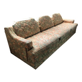 Mid Century Modern Howard Parlor Original Custom Floral Sofa For Sale