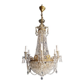 12 Piece Montgolfièr Empire Sac a Pearl Chandelier Crystal Lustre Ceiling Lamp For Sale