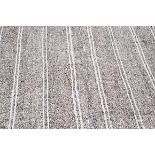 Islamic Turkish Stripe Kilim Rug - 6′5″ × 8′2″ For Sale - Image 3 of 6