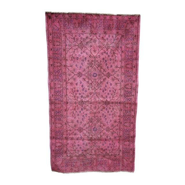 Rosa Vintage Overdye Pink Rug - 3′10″ × 7′ - Image 1 of 4