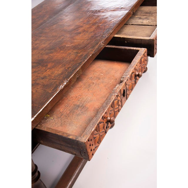 Portuguese All Original 18th Century Carved Walnut Table For Sale - Image 9 of 13
